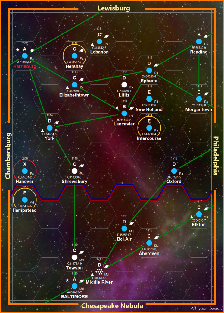 Lancaster Subsector Map